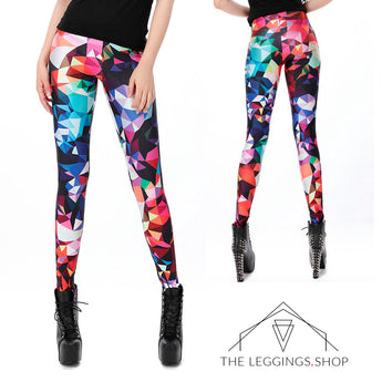 Geometric Pixel Leggings - The Leggings Shop