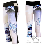 Great Wave Athletic Capri Leggings