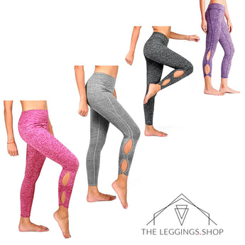 Infinity Cutout Athletic Capri Leggings - The Leggings Shop