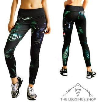 Jungle Jaguar Leggings - The Leggings Shop