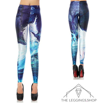 Leaping Unicorn Leggings - The Leggings Shop