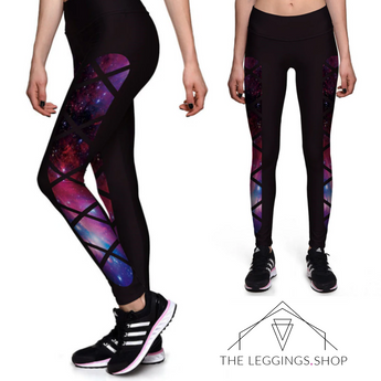 Criss Cross Galaxy Leggings