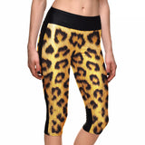 Leopard Print Athletic Capri Leggings - The Leggings Shop