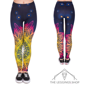 Mandala Midnight Leggings - The Leggings Shop