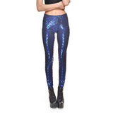 Mermaid in Blue Leggings - The Leggings Shop