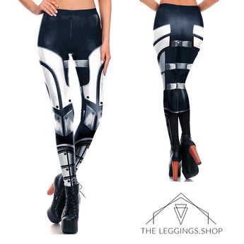Metal Armor Leggings - The Leggings Shop