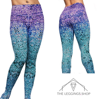 Mosaic Mermaid Leggings - The Leggings Shop