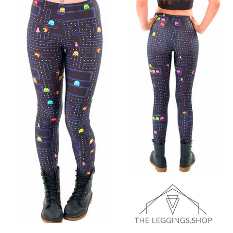 Pacman Leggings - The Leggings Shop