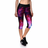 Pink Galaxy Athletic Capri Leggings - The Leggings Shop