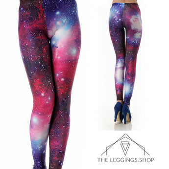 Pink Supernova Galaxy Leggings - The Leggings Shop