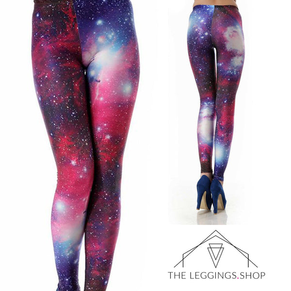 Pink Supernova Galaxy Leggings