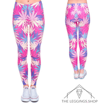 Pink Mary Jane Leggings - The Leggings Shop