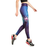 Galaxy Leaf Leggings - The Leggings Shop