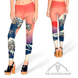 Pug Wave Leggings - The Leggings Shop