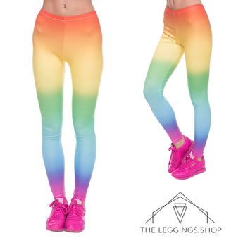 Rainbow Ombre Leggings - The Leggings Shop