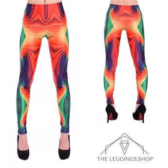 Retro Rainbows Leggings - The Leggings Shop