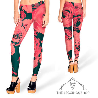 Rose Blossom Leggings - The Leggings Shop