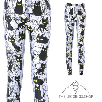 Spooky Cat Leggings - The Leggings Shop