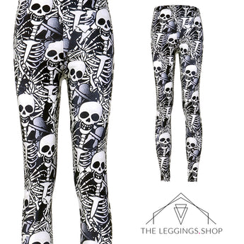 Spooky Skeleton Leggings - The Leggings Shop