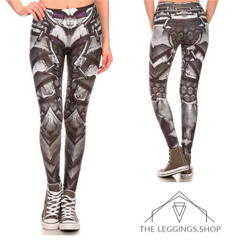 Mecha Robot Armor Leggings - The Leggings Shop