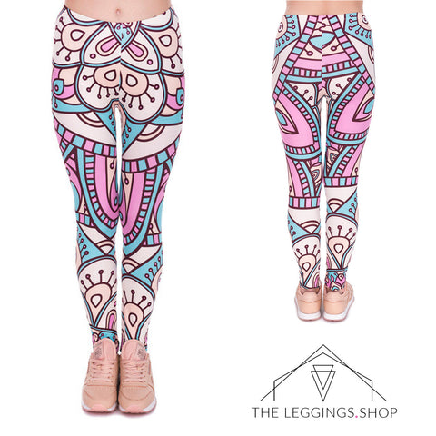 Tribal Swirls Leggings - The Leggings Shop