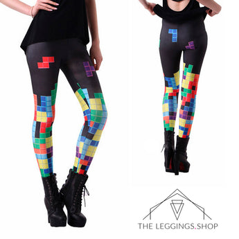Tetris Leggings - The Leggings Shop