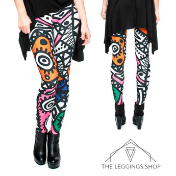 Tribal Print Leggings - The Leggings Shop