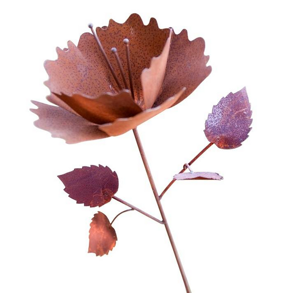 Large Rust Garden Flower - Whatever Mudgee Gifts & Homewares