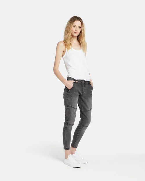 BLACK BOYFRIEND JEANS JAC & MOOKI - Whatever Mudgee Gifts & Homewares