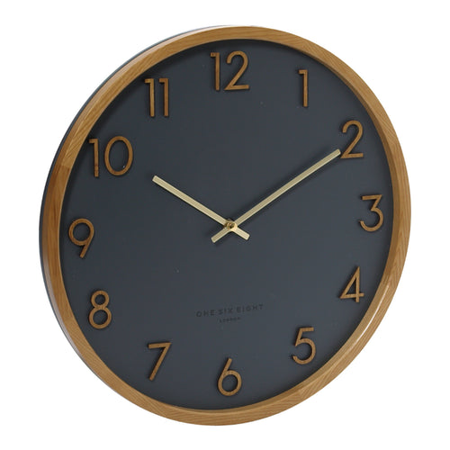 Scarlett | Silent Wall Clock | Charcoal