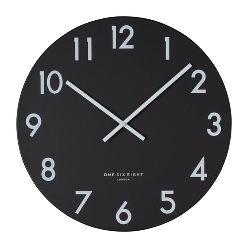 Jackson | Black Wall Clock | 30cm | One Six Eight