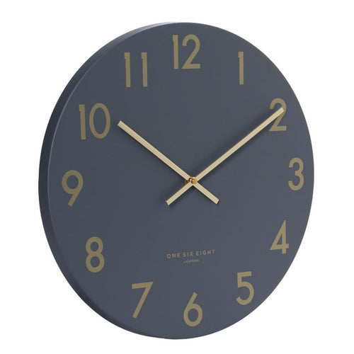 Jones Silent Wall Clock | Charcoal | One Six Eight
