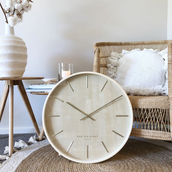 Marcus Wall Clock 50cm | Wood | One Six Eight