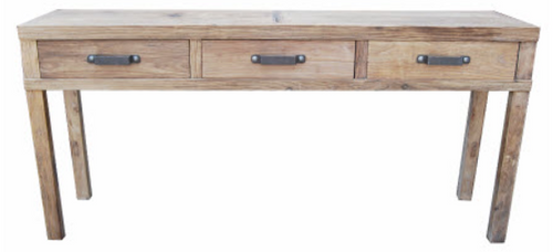 Recycled Elm | Three Drawer | Hall Table