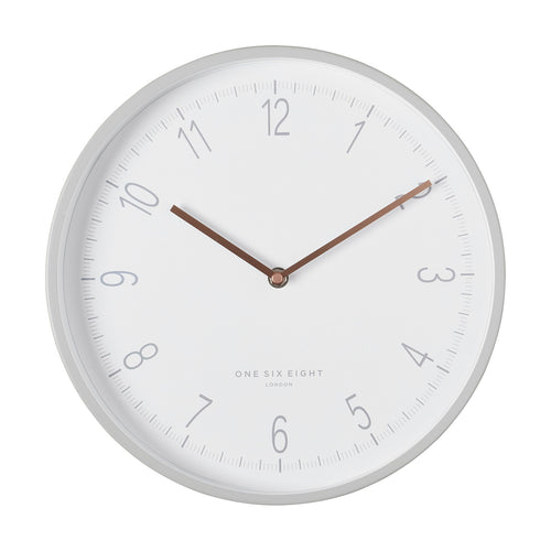 Eliza Cool Grey | Silent Wall Clock | 30cm | One Six Eight