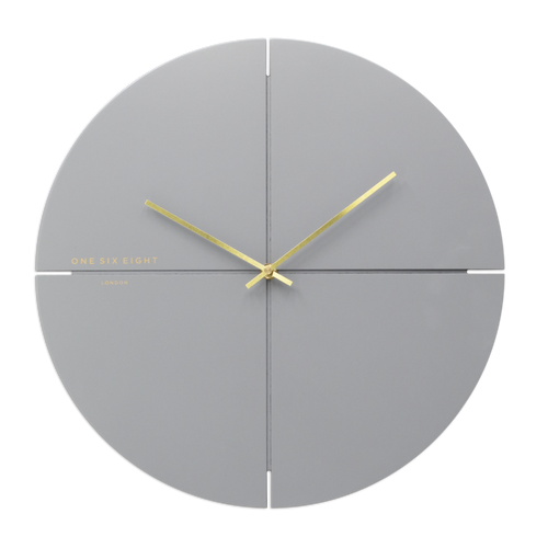 Liam Cool Grey | Silent Wall Clock | Assorted Sizes | One Six Eight