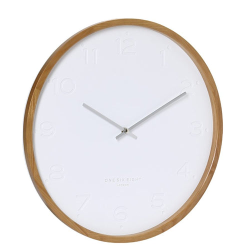 FREYA Silent Wall Clock White | 2 Sizes | One Six Eight