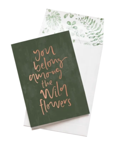 Among The Wildflowers - Emma Kate Greeting Card