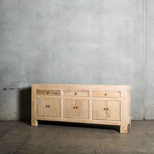 Antique Chinese Three Drawer Sideboard | Old Pine