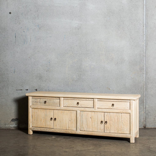 Chinese Three Door Sideboard | Old Pine