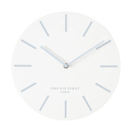 Chloe White | Silent Wall Clock | 30cm | One Six Eight