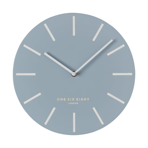 Chloe Pastel Blue | Silent Wall Clock | 30cm | One Six Eight
