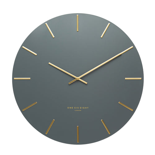 Luca Silent Wall Clock | Charcoal | One Six Eight