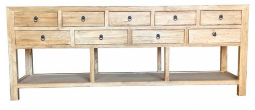 Recycled Elm Stacked Drawers | Hall Table