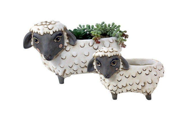 Baby Black Sheep Baa Resin Pot Planter
