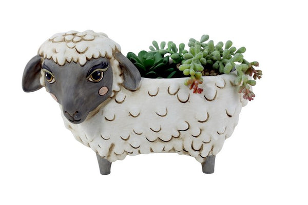 Black Sheep Baa Resin Pot Planter