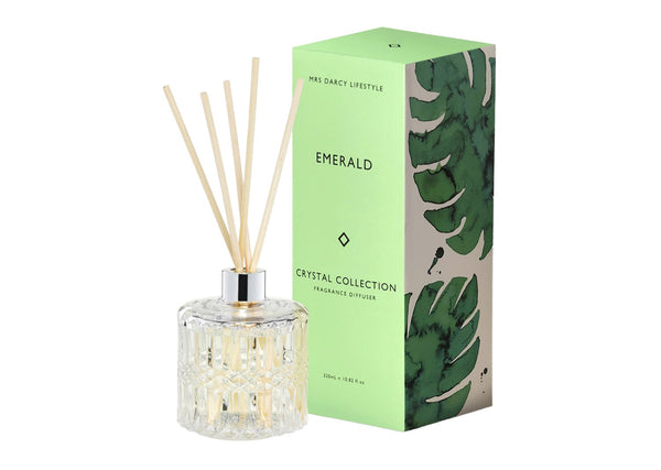Emerald - Oakmoss, Sandalwood + Vanilla - Mrs Darcy Diffuser - Whatever Mudgee Gifts & Homewares
