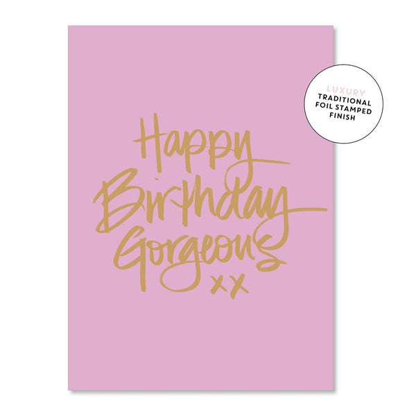 Gorgeous Script Birthday  | Just Smitten Greeting Card