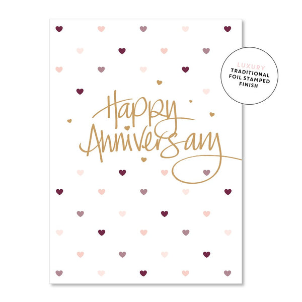 Happy Anniversary Hearts  |  Just Smitten Greeting Card