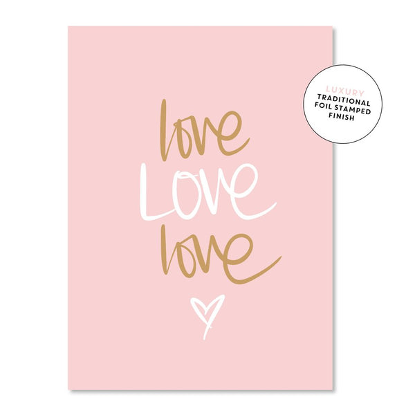 Love Love Love |  Just Smitten Greeting Card